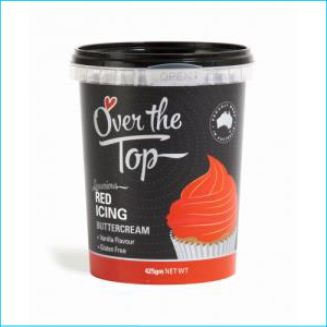 Over the Top Buttercream Red 425g