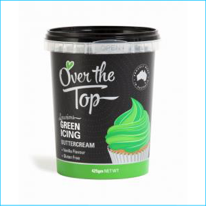 Over the Top Buttercream Green 425g