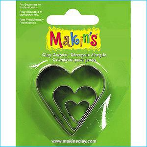 Makins Heart Cutters Pk 3