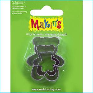 Makins Teddy Bear Cutters Pk 3