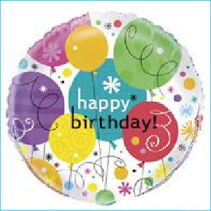 Breezy Happy Birthday Foil Balloon 45cm