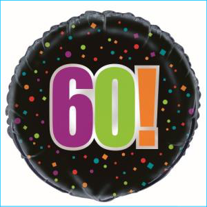Birthday Cheer 60th Foil Balloon 45cm