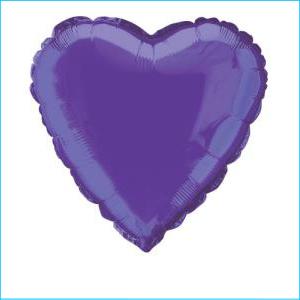 Deep Purple Heart Foil Balloon 45cm