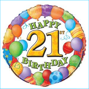 21st Balloons Foil Balloon 45cm