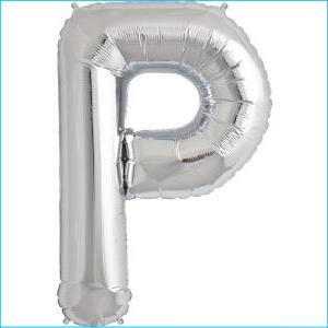 Foil Balloon 35cm Silver P