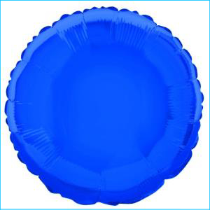 Royal Blue Round Foil Balloon 45cm