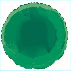 Green Round Foil Balloon 45cm