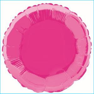 Hot Pink Round Foil Balloon 45cm