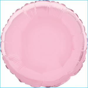 Pastel Pink Round Foil Balloon 45cm
