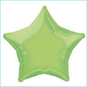 Lime Green Star Foil Balloon 50cm