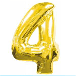 Number 4 Gold Supershape 86cm