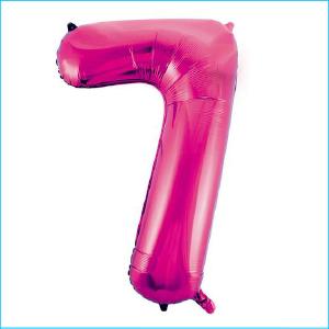 Foil 86cm Pink Number 7 Meteor
