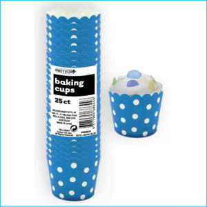 Royal Blue Polka Dot Baking Cups Medium