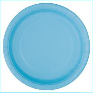 Light Blue Paper Side Plates Pk 8