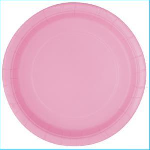 Light Pink Paper Side Plates Pk 8