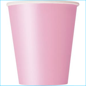 Light Pink Paper Party Cups Pk 8