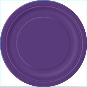 Purple Paper Dinner Plates Pk 8