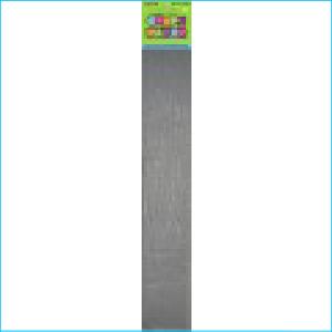 Crepe Paper Metallic Silver 1.83m