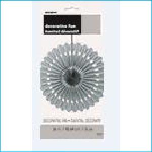Decorative Fan Silver 40.64cm Pk 1