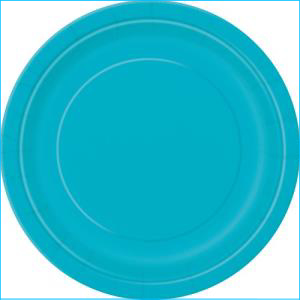 Turquoise Paper Side Plates Pk 8
