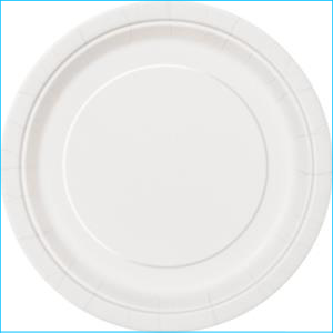 White Paper Side Plates Pk 8