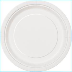 White Paper Dinner Plates Pk 8