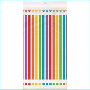 Rainbow Party Rectangle Plastic Tablecov