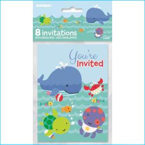Under the Sea Party Invites Pk 8