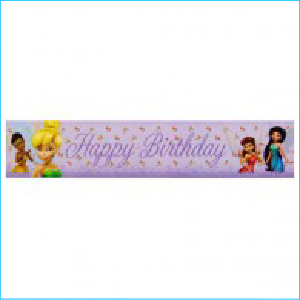 Tinkerbell Party Banner Pk 1