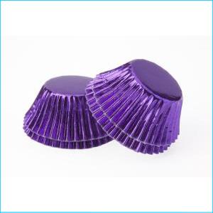 Purple Foil Large Patty Pans Pk 25