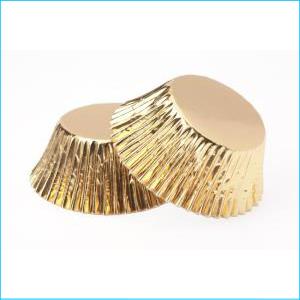 Gold Foil Large Patty Pans Pk 25