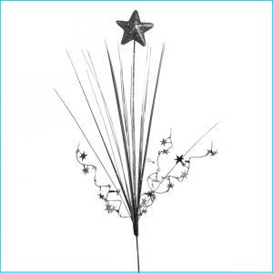 Silver Solid Star Spray - Premier Party