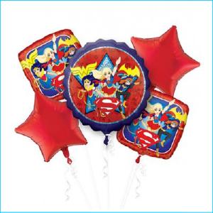 Balloon Bouquet Super Heros Girls