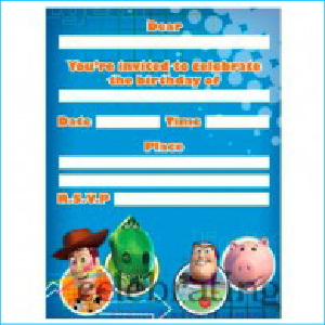 Toy Story Invitations Pk 8