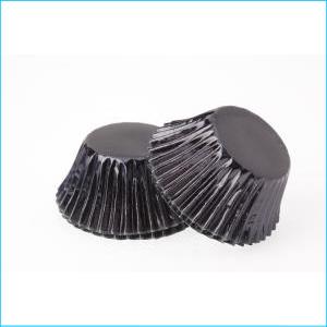Black Foil Large Patty Pans Pk 25