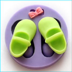Silicone Mould Pair Boots and Bow