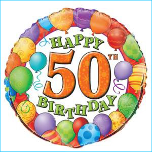 50th Balloons Foil Balloon 45cm
