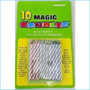 Magic Relighting Candles Pk10