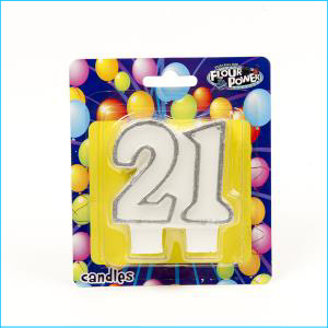 No. 21 Double Silver Candle