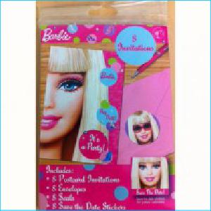 Barbie Party Invites Pk 8
