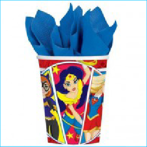 DC Girls Superheros Party Cups Pk8