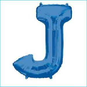 Letter J Blue Supershape 86cm