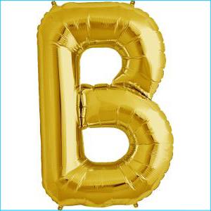 Letter B Gold Supershape 86cm