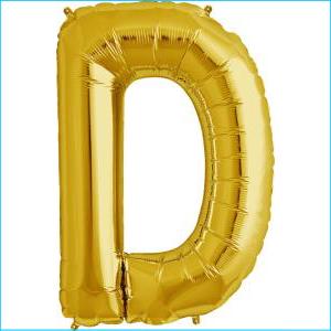 Letter D Gold Supershape 86cm