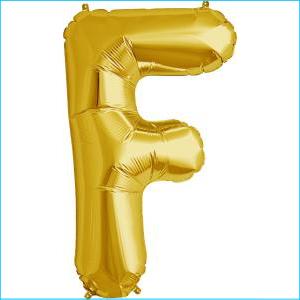 Letter F Gold Supershape 86cm