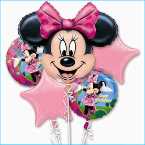 Bouquet Balloons Minnie Mouse