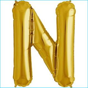 Letter N Gold Supershape 86cm