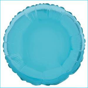 Baby Blue Round Foil Balloon 45cm