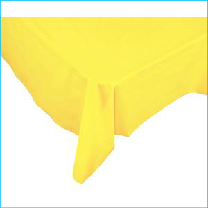 Yellow Rectangle Plastic Tablecover