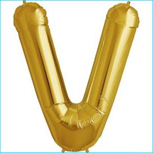 Foil Balloon 35cm Gold V